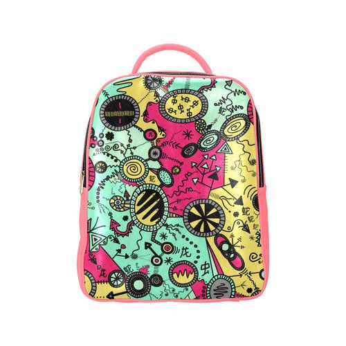 Comic Doodle Illustration in Colour Popular Backpack (Model 1622)