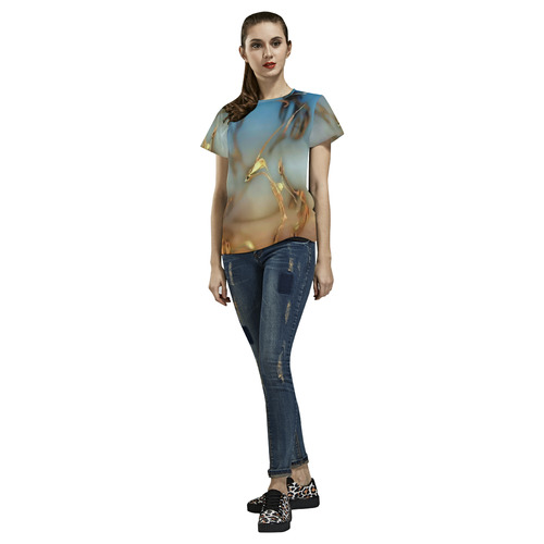Hidden treasures-Annabellerockz-tee All Over Print T-Shirt for Women (USA Size) (Model T40)