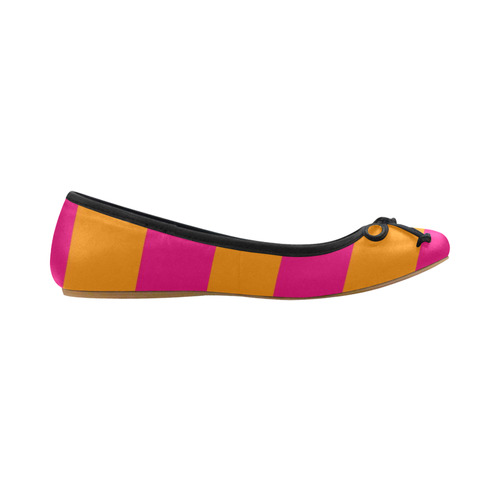 Pink & Orange Stripes Juno Ballet Pumps (Model 312)