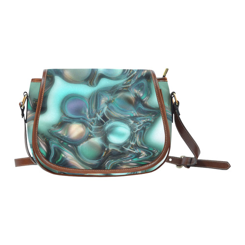 Atlantis pearls-Annabellerockz-sadlle bag Saddle Bag/Small (Model 1649) Full Customization