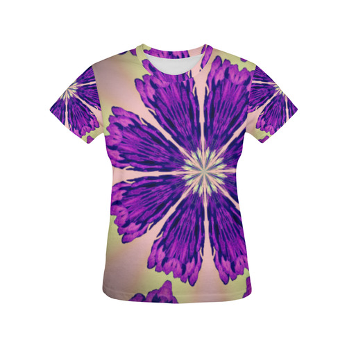 PASTEL POND All Over Print T-Shirt for Women (USA Size) (Model T40)