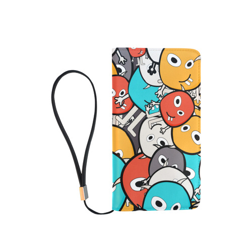 multicolor doodle monsters Men's Clutch Purse (Model 1638)
