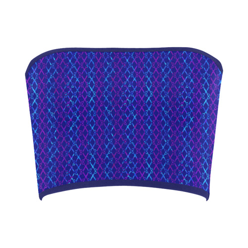 Scissor Stripes - Blue and Purple Bandeau Top