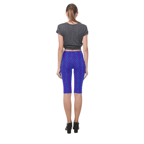 Scissor Stripes - Blue and Purple Hestia Cropped Leggings