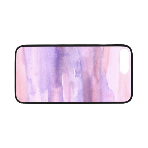 """pink purple watercolor Rubber Case for iPhone 7 plus (5.5"""")"""