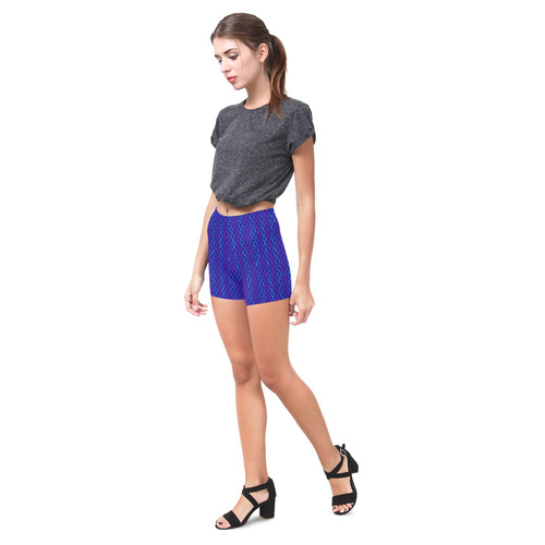 Scissor Stripes - Blue and Purple Briseis Skinny Shorts (Model L04)