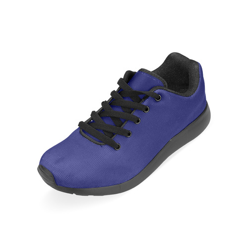 Solid Navy Blue Women's Running Shoes (Model 020)