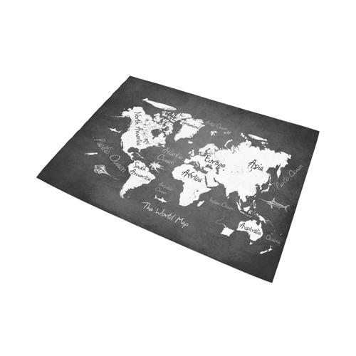 world map Area Rug7'x5'