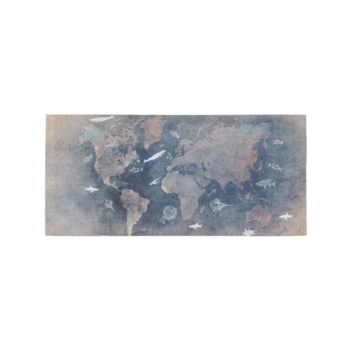 world map 26 Area Rug 7'x3'3''