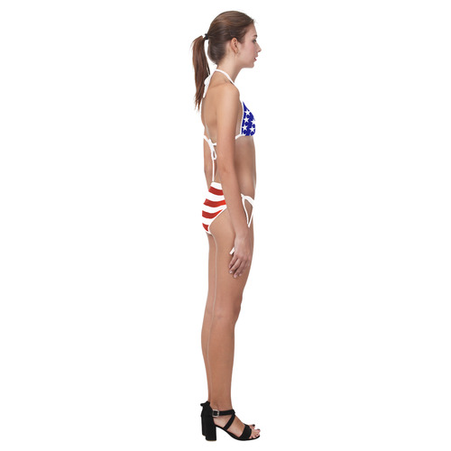 Patriotic America Custom Bikini Swimsuit (Model S01)