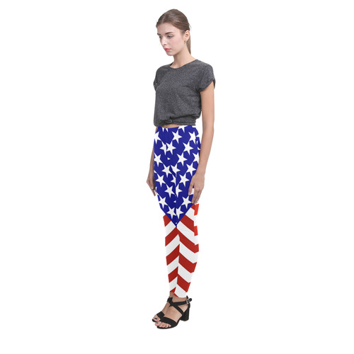 All-American Patriotic USA Cassandra Women's Leggings (Model L01)