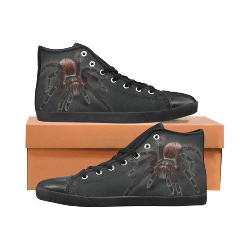 Tarantel - Tarantula Spider Painting Men's High Top Canvas Shoes (Model 002)
