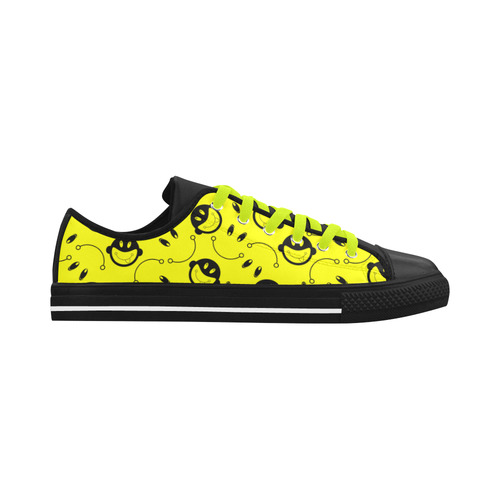 monkey tongue out on yellow Aquila Microfiber Leather Men's Shoes (Model 028)