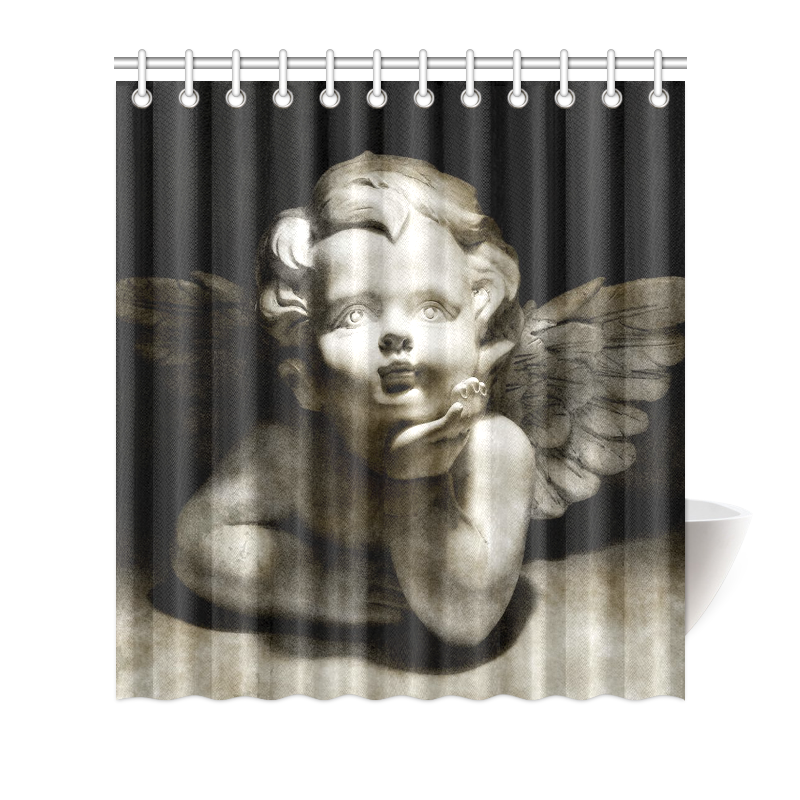 Cute Vintage Guardian Angel 2 By Feelgood Shower Curtain