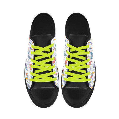 floral geometric seamless oriental Aquila Microfiber Leather Men's Shoes (Model 028)