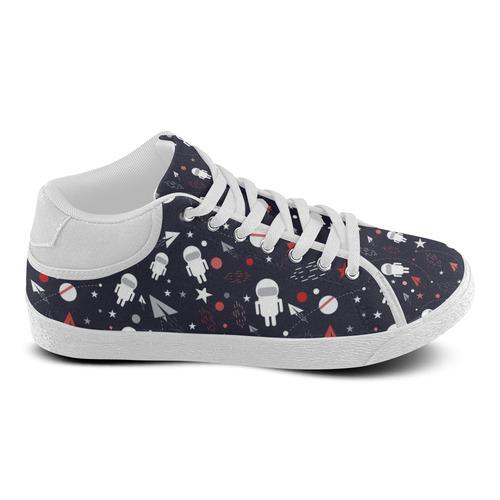 Astronaut Doodle Men's Chukka Canvas Shoes (Model 003)