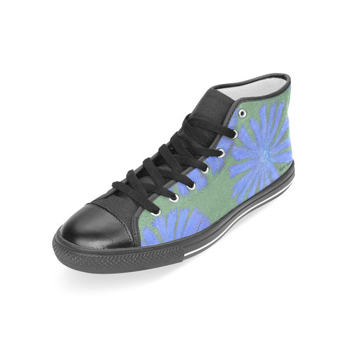 Chicory, black toe. Inspired by the Magic Island of Gotland. Women's Classic High Top Canvas Shoes (Model 017)