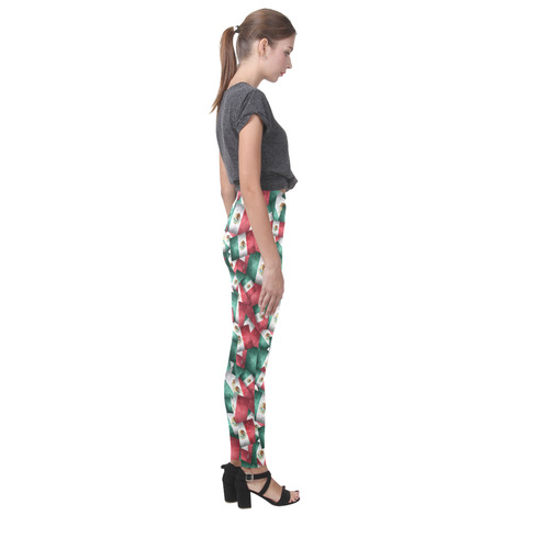 Grunge-Style Mexican Flag of Mexico Cassandra Women's Leggings (Model L01)