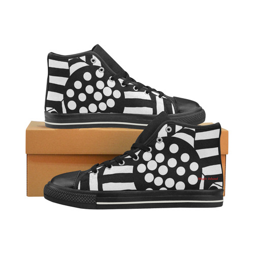 Popop. Inspired by the Magic Island of Gotland. Men's Classic High Top Canvas Shoes (Model 017)