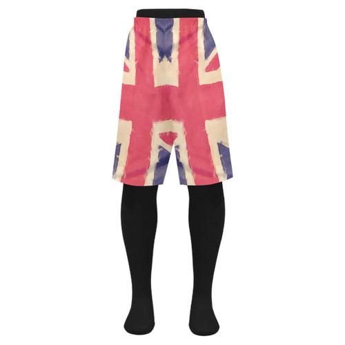 cd0cb12430 British UNION JACK flag grunge style Men's Swim Trunk (Model L21) | ID:  D1549311