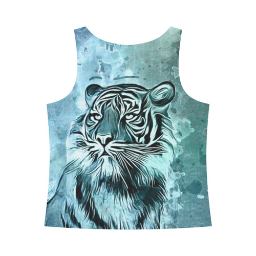 Watercolor Tiger All Over Print Tank Top for Women (Model T43)