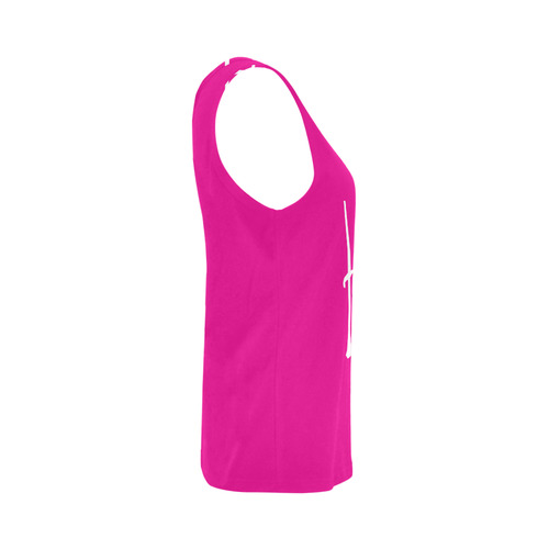 Hot Pink All Over Print Tank Top for Women (Model T43)
