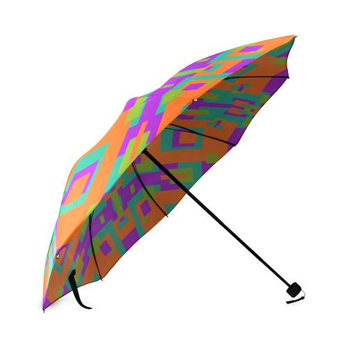 Mango Tango Design Umbrella Foldable Umbrella (Model U01)