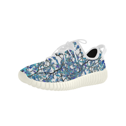 Modern Nouveau Pattern Grus Women's Breathable Woven Running Shoes (Model 022)