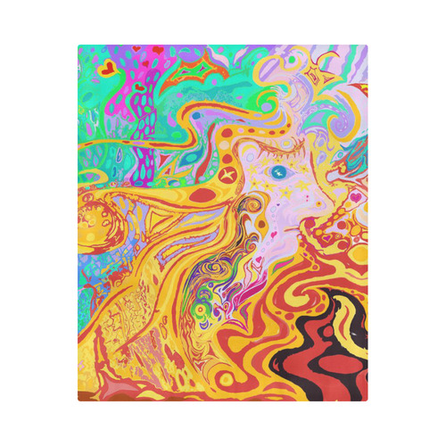 """Hair of the Divine Universe Art Duvet Cover Duvet Cover 86""""x70"""" ( All-over-print)"""