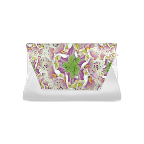 Digitalis Purpurea Flora Clutch Bag (Model 1630)