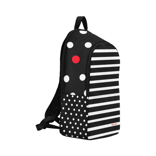 Red Dot. Inspired by the Magic Island of Gotland. Fabric Backpack for Adult (Model 1659)