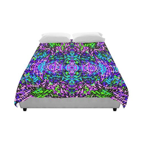 """GrassWorld Blue, Purple, Green Design Duvet Cover Duvet Cover 86""""x70"""" ( All-over-print)"""