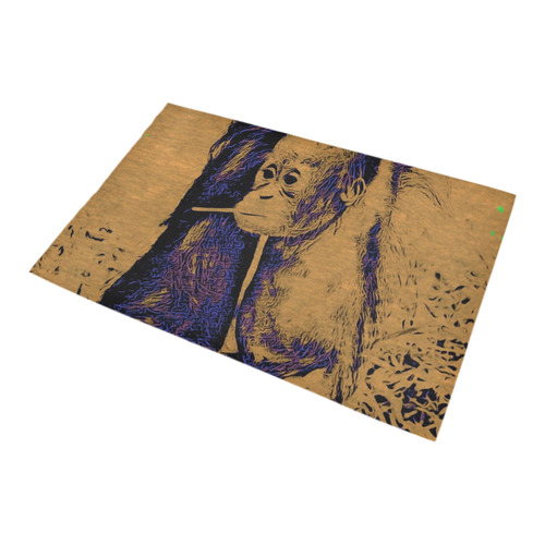 animal art studio 12516 Baby Orang Bath Rug 20''x 32''
