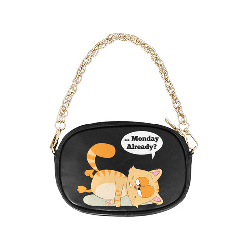 Even Cat Hates Monday Chain Purse (Model 1626)