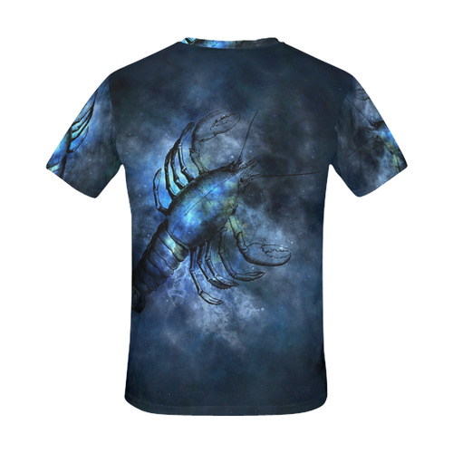 Astrology Zodiac Signs Scorpio Scorpion All Over Print T-Shirt for Men (USA Size) (Model T40)