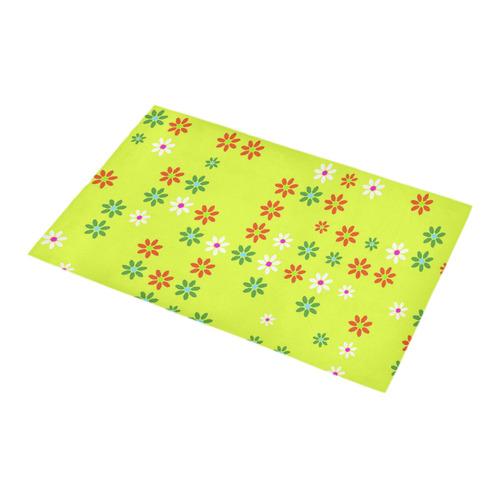 Floral Fabric 2C Bath Rug 16''x 28''