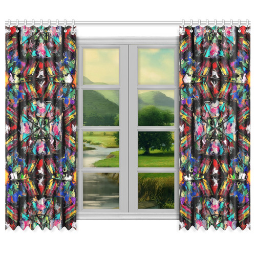 "Ecuadorian Stained Glass 0760 Window Curtain 50""x84""(Two Piece)"