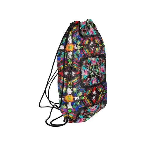 "Ecuadorian Stained Glass 0760 Small Drawstring Bag Model 1604 (Twin Sides) 11""(W) * 17.7""(H)"
