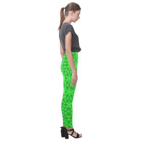Greenery Kaleidoscope 8075 Cassandra Women's Leggings (Model L01)