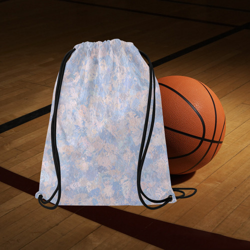 "Rose Quartz and Serenity blue 4644 Basketball Drawstring Bag Model 1604 (Twin Sides)  16.5""(W) * 19.3""(H)"