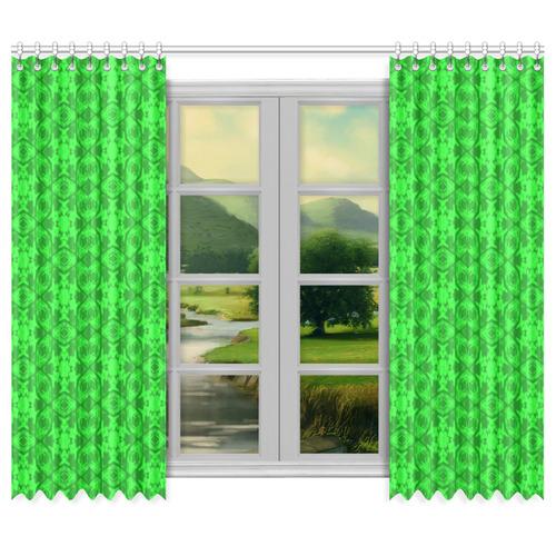 """Greenery Kaleidoscope 8075 Window Curtain 50""""x84""""(Two Piece)"""