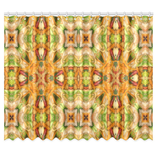 "Shrimp, Broccoli and Rice 2281 Window Curtain 50""x84""(Two Piece)"
