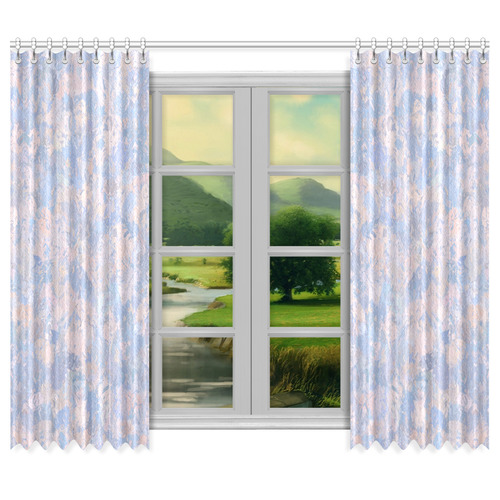 "Rose Quartz and Serenity blue 4644 Window Curtain 50""x84""(Two Piece)"