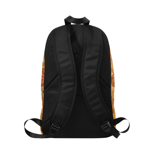 Basketballs with Wood Background Fabric Backpack for Adult (Model 1659)