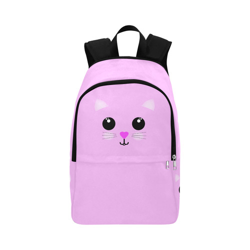 Kawaii Kitty Pink Fabric Backpack for Adult (Model 1659)