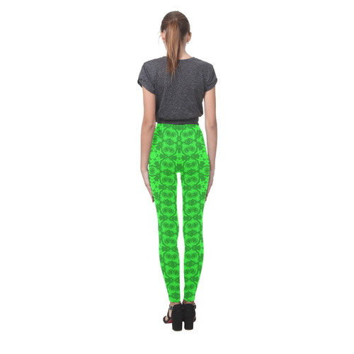 Greenery Kaleidoscope 8075 Cassandra Women's Leggings (Model L01)