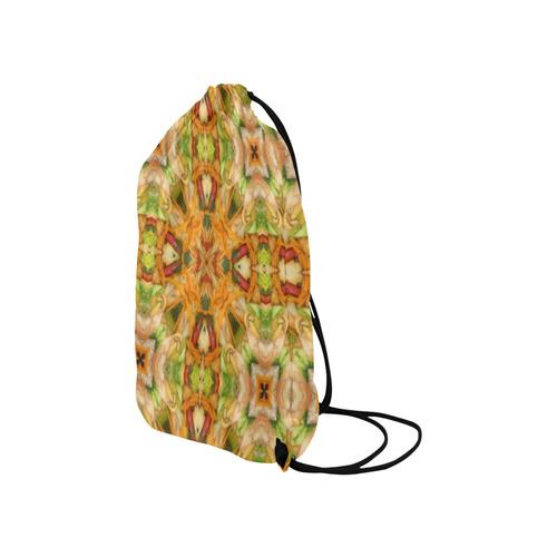 "Shrimp, Broccoli and Rice 2281 Small Drawstring Bag Model 1604 (Twin Sides) 11""(W) * 17.7""(H)"