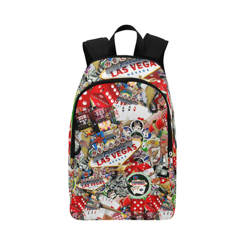 Las Vegas Icons - Gamblers Delight Fabric Backpack for Adult (Model 1659)