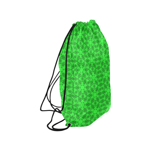 "Greenery Kaleidoscope 8075 Medium Drawstring Bag Model 1604 (Twin Sides) 13.8""(W) * 18.1""(H)"