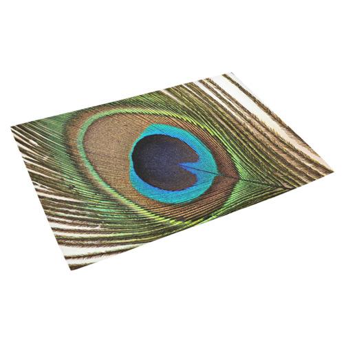 """Peacock20170414_by_JAMColors Azalea Doormat 30"""" x 18"""""""